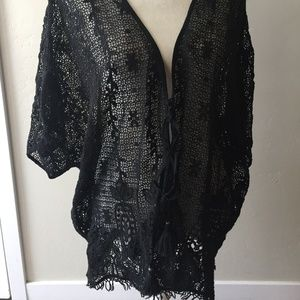 Beautiful Gypsy 05 Crochet Kimono Tunic Cover Up